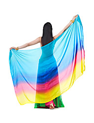 Beautiful Performance Silk Belly Dance Mixed Colors Veils For Ladies