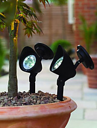 3-LED Outdoor Solar Powered Landscape Spot Light LED Yard Garden Path Lawn Lamp