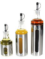 Set of 3 Glass Oil & Vinegar Dispenser(350ML, 200ML, 500ML)