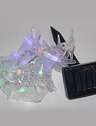 Powered luz de la secuencia de la mariposa solar con 20 LEDS