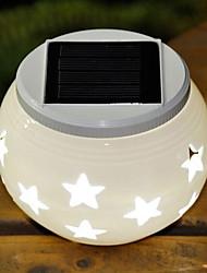Stars Pattern RGB Hollowed-Out LED Solar Powered Garden Light -Solar Table Light- Solar Small Night Light In Jar Design