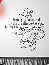 Palavras que Meça sua vida adesivos de parede