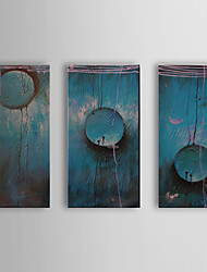 pintados à mão pintura a óleo abstrata caindo com quadro esticado conjunto de 3 1310-ab1206