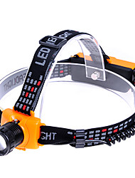 KX-6551 Cree Q5 270-Lumen 3-Mode Branco Zoom LED Farol - Preto + Amarelo (3 x AAA / 1 x 18650)