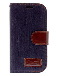 Jean conception Leather Case Full Body PU pour Samsung Galaxy S3 I9300