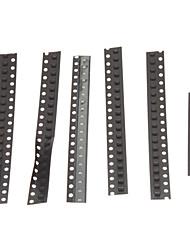 0805 SMD LED-Strahler Strips Set - Schwarz (5 x 20 + 1 x 10 Stück)