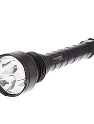 UniqueFire UF-V2 5-Mode 3xCREE XM-L U2 LED Flashlight (3800LM, 2x18650, Noir)