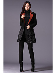 Women's Coats & Jackets , Polyester/Wool Casual YBKCP