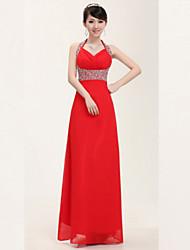Árboles de cuatro estaciones delgado del cuello del halter de la Piso-longitud del vestido de partido / vestido de novia (Modelo del diamante al azar)