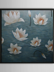 Bathing Beauty Floral Framed Oil Painting