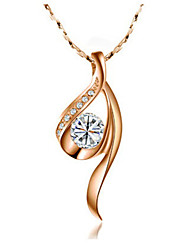 Charming Alloy With Cubic Zirconia Women's Necklace(More Colors)