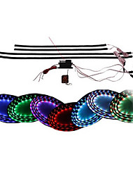"7 Color LED Under Car Glow Underbody System Neon Lights Kit 38"" x 4 Wireless Remote Control"