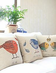 Cotton/Linen Pillow Cover , Animal Print Accent/Decorative