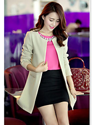 Mode CHAOLIU femmes Slim long blazer à manches longues