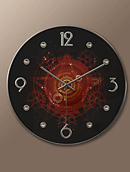 "16""H Modern Gear Style Wall Clock"