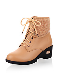 Leatherette Lace-Ups Platform Ankle Boots Casual Shoes (More Colors)