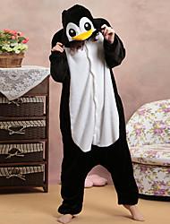 Honnête pingouin noir et blanc Polaire Pyjama Kigurumi Cartoon nuit animale Halloween Costume