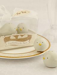 Ceramic Bird's Nest Salt And Pepper Shakers Wedding Favor