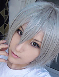 Cosplay Wigs Cosplay Franken Stein Gray Short Anime Cosplay Wigs 32 CM Heat Resistant Fiber Male