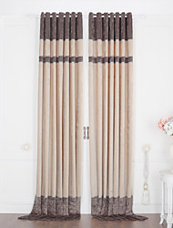 (Two Panels) Classic Stripe Jacquard Thermal Curtain