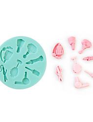 Toiletry And Styling Shape Silicone Mould Fondant Cake Decorating Baking Tool