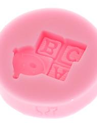 Mini Modelo ABC bebé de la serie 3D de silicona líquida Doble azúcar Mold Shape