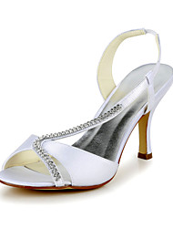 Women's Spring / Summer Heels Satin / Stretch Satin Wedding Stiletto Heel