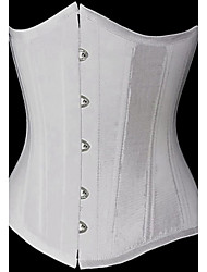 CAOJI Women's Sexy Button  Strapless Corset and T-back