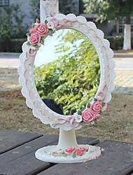 """11 """"H floral style mignon Polyresin table Mirror"""
