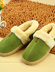 Green Warmth-Keep Modern Women's Bootie Slipper
