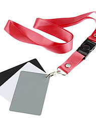 3 en 1 Digital Card Gris Blanc Noir 18% Gris Couleur Blanc Bracelet d'équilibre
