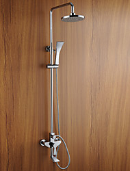 Contemporary Nickel Brushed Finish Wall Mounted Shower Faucet