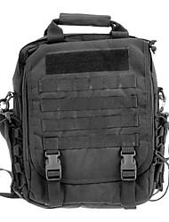 Multi-Funktions-Outdoor-Nylon Gewebe Militär-Laptop-Tasche für - Schwarz