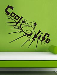 Refroidir les stickers muraux de grenouille animaux