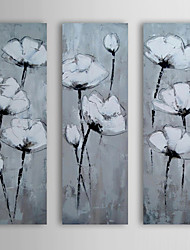 Hand Painted Oil Painting Floral Flower in Mist with Stretched Frame Set of 3 1311-FL1127