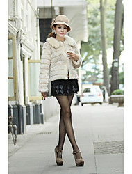 Long Sleeve Turndown Faux Fur Party/Casual Jacket
