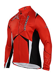MYSENLAN® Cycling Jacket Men's Long Sleeve Bike Thermal / Warm / Windproof / Fleece Lining / Wearable Jacket / Jersey / TopsPolyester /