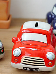 Creative Green Car Design Ceramic Coin Box