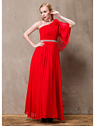 Lady Antebellum Elegant One Shoulder Long Dress