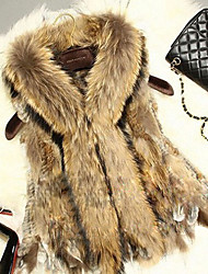 Fur Vest With Sleeveless Shawl Rabbit Fur Party/Casual Vest(More Colors)