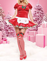 Short-Sleeve Red Women's Christmas Costume