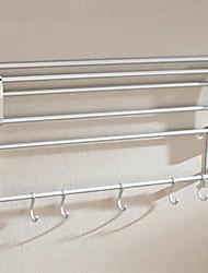 Aluminum Alloy Double Layer Bath Hook(5 Hooks)