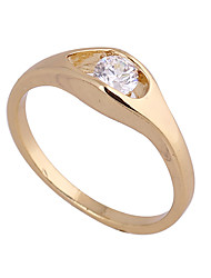 KU NIU Women's Gold Plating Zircon Ring J27013