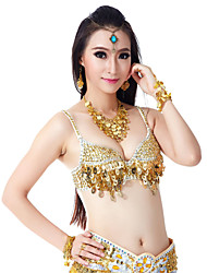 Belly Dance Tops Women's Training Polyester Beading / Sequins