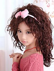 Стильный монолитным Средний Асимметричный Дети волны парик (коричневый)