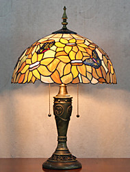 Floral Shade Table Lamp, 2 Light, Tiffany Resin Glass Painting