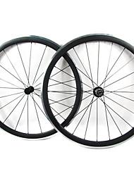 Farsports-700c carretera 38mm Carbono del camino del remachador de ruedas de bicicletas con frenos de aleación