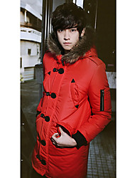 Men's Fur Collar with Hat Outwear