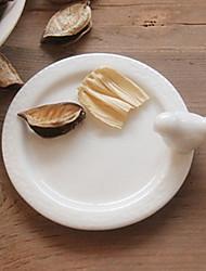 "4""Modern Style White Ceramic Dish"
