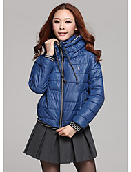 Zhubi Damen Blue Thicken Fit Short Cotton Coat